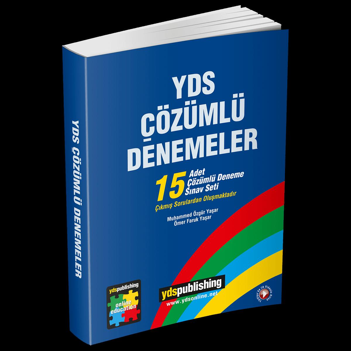 YDS Çözümlü Denemeler (15'li) yds Çözümlü denemeler -  YDS Çözümlü Denemeler (15'li) – Açıklamalarıyla 15 deneme sınavı