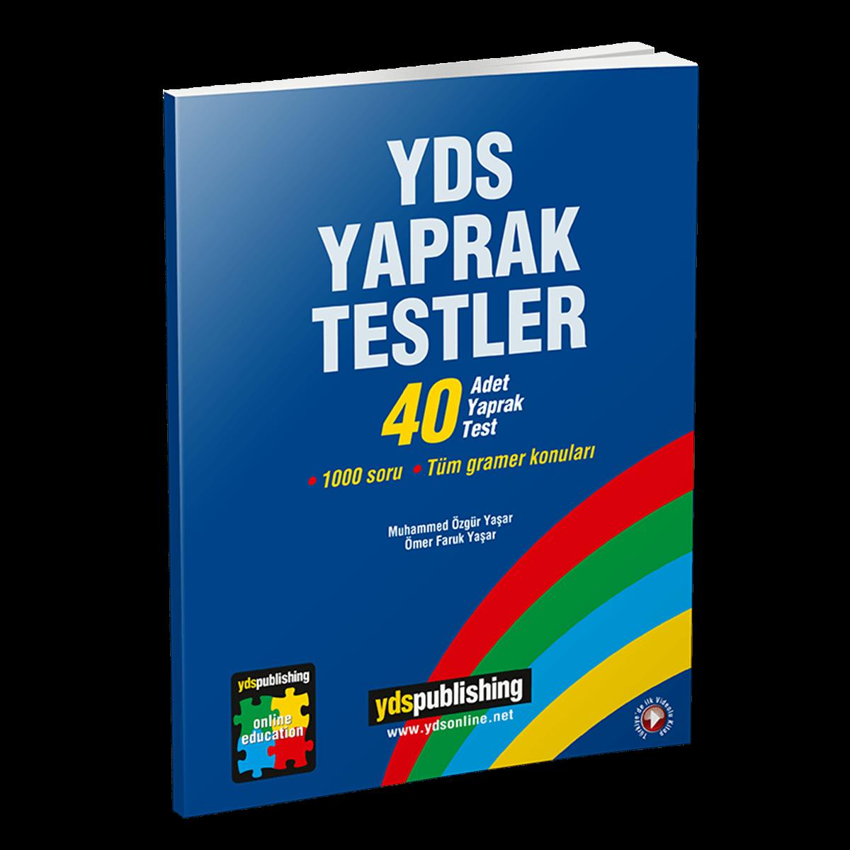 YDS Yaprak Testler yds yaprak testler - YDS Yaprak Testler – Grammar sorularından oluşan toplam 1000 soru