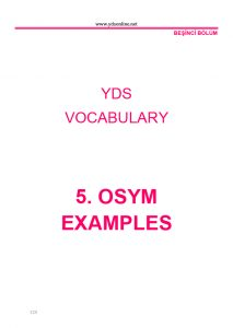 yds vocabulary YDS Vocabulary – YDS, YKS-DİL, YÖKDİL'in anahtarı bu kelime kitabında ydsvocabulary18 213x300