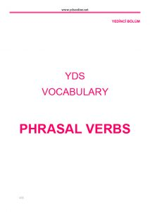 yds vocabulary YDS Vocabulary – YDS, YKS-DİL, YÖKDİL'in anahtarı bu kelime kitabında ydsvocabulary26 213x300