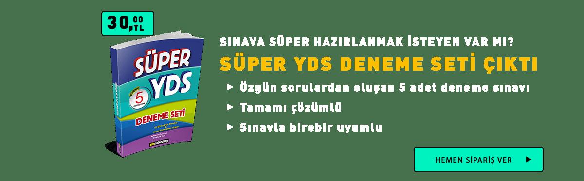 Süper YDS Denemesi yds kitapları -  Ana Sayfa